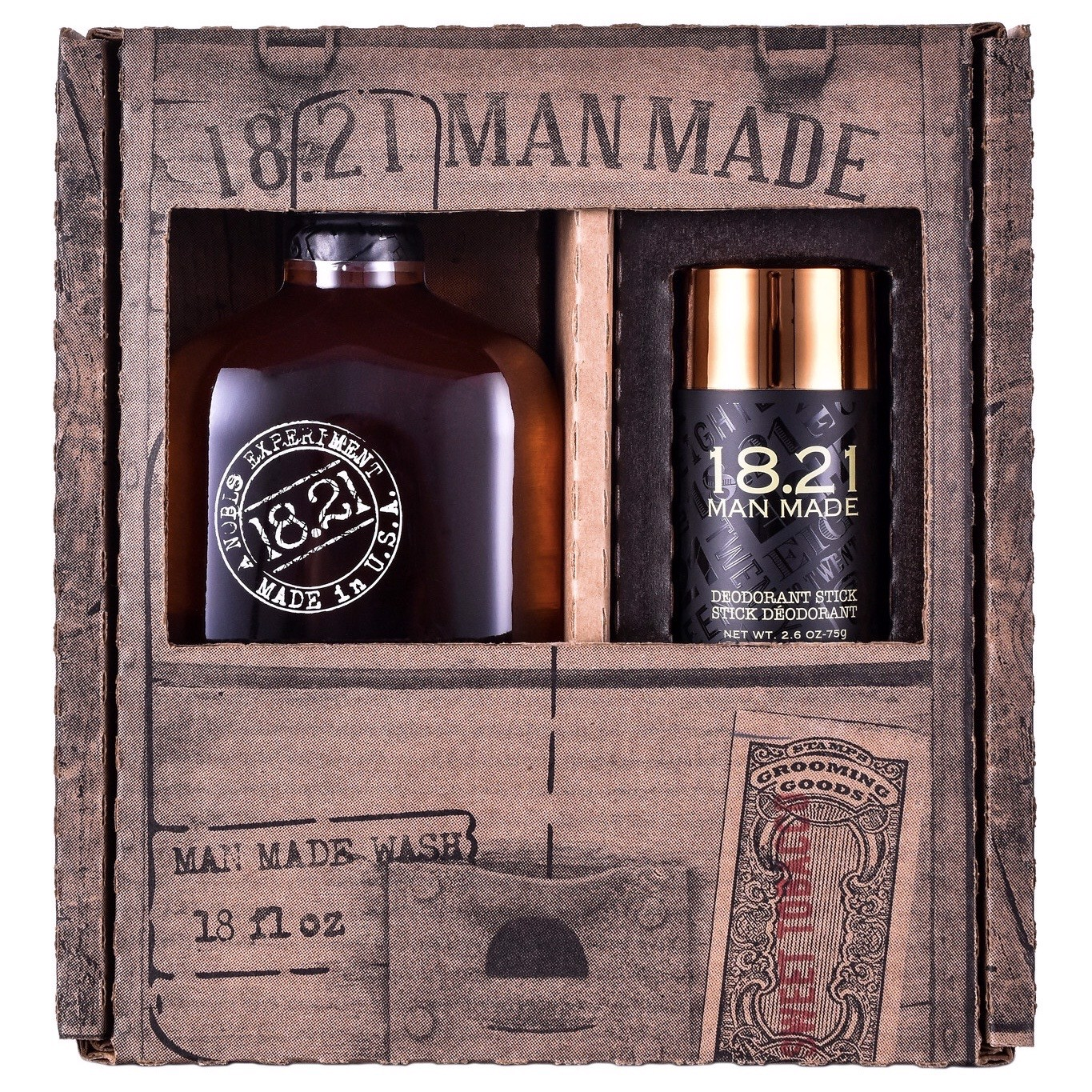 Bộ Combo 18.21 Man Made Sweet Tobacco Wash & Deodorant Gift Box